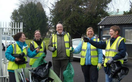 case-Informing and Involving the campus and wider community-photo ref 9 Maynooth Green Campus litter pick